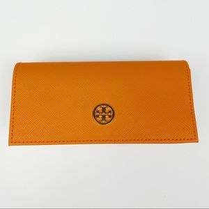 Tory Burch Snap Clasp Orange Sunglasses Case